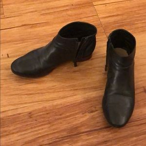 Cole Haan leather and suede booties size 7